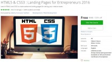 Udemy Coupon – HTML5 & CSS3 : Landing Pages for Entrepreneurs 2016