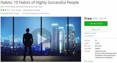 Udemy Coupon – Habits: 10 Habits of Highly Successful People