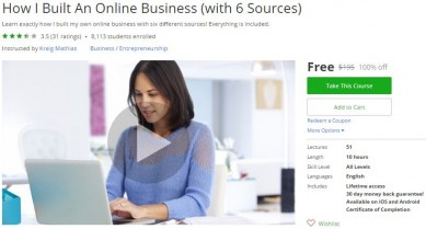 Udemy Coupon – How I Built An Online Business (with 6 Sources)