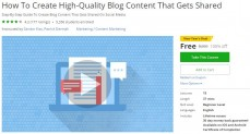 Udemy Coupon – How To Create High-Quality Blog Content That Gets Shared