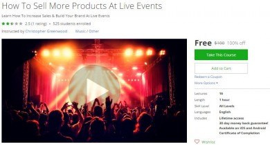 Udemy Coupon – How To Sell More Products At Live Events