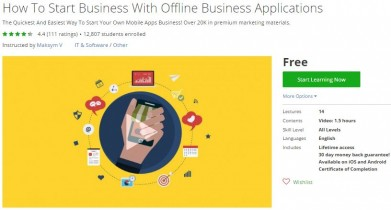Udemy Coupon – How To Start Business With Offline Business Applications