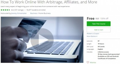Udemy Coupon – How To Work Online With Arbitrage, Affiliates, and More
