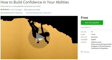 Udemy Coupon – How to Build Confidence in Your Abilities