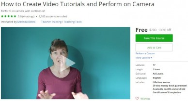 Udemy Coupon – How to Create Video Tutorials and Perform on Camera