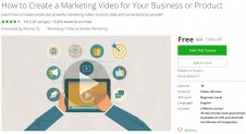 Udemy Coupon – How to Create a Marketing Video for Your Business or Product