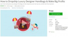 Udemy Coupon – How to Dropship Luxury Designer Handbags & Make Big Profits