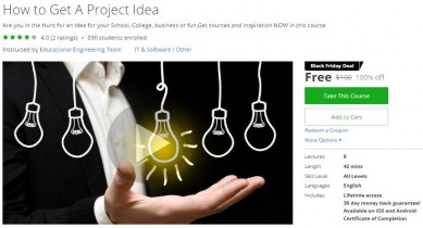 Udemy Coupon – How to Get A Project Idea
