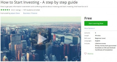 Udemy Coupon – How to Start Investing – A step by step guide