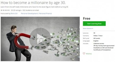 Udemy Coupon – How to become a millionaire by age 30.