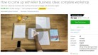 Udemy Coupon – How to come up with killer business ideas: complete workshop