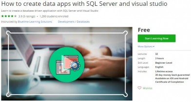 Udemy Coupon – How to create data apps with SQL Server and visual studio