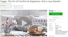 Udemy Coupon – Hygge. The Art of Comfort & Happiness. Knit a cozy blanket