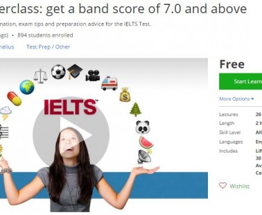 Udemy Coupon – IELTS Masterclass: get a band score of 7.0 and above