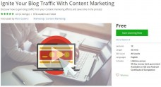 Udemy Coupon – Ignite Your Blog Traffic With Content Marketing
