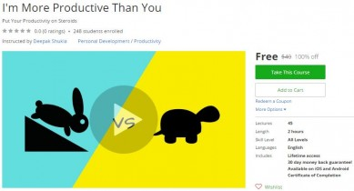Udemy Coupon – I'm More Productive Than You