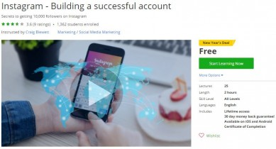 Udemy Coupon – Instagram – Building a successful account