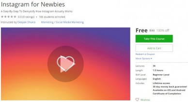 Udemy Coupon – Instagram for Newbies