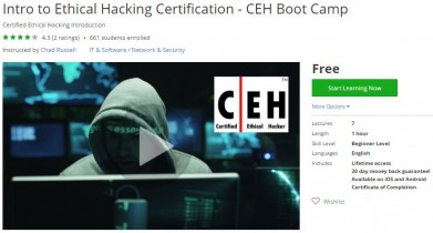 Udemy Coupon – Intro to Ethical Hacking Certification – CEH Boot Camp