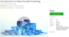 Udemy Coupon – Introduction to Value Growth Investing