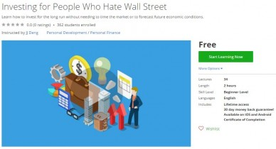 Udemy Coupon – Investing for People Who Hate Wall Street