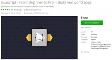 Udemy Coupon – Javascript – From Beginner to Pro! – Build real world apps