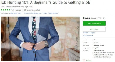 Udemy Coupon – Job Hunting 101: A Beginner's Guide to Getting a Job
