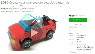 Udemy Coupon – LEGO Create your own custom sets video tutorials
