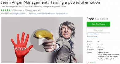 Udemy Coupon – Learn Anger Management : Taming a powerful emotion