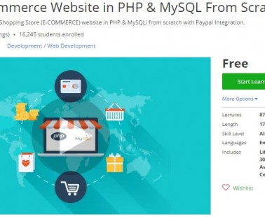 Udemy Coupon – Learn E-Commerce Website in PHP & MySQL From Scratch!