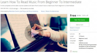 Udemy Coupon – Learn How To Read Music From Beginner To Intermediate