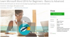 Udemy Coupon – Learn Microsoft Word 2016 For Beginners – Basics to Advanced