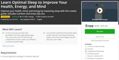 Udemy Coupon – Learn Optimal Sleep to Improve Your Health, Energy, and Mind