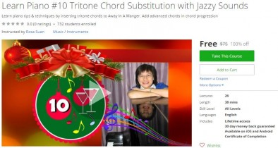 Udemy Coupon – Learn Piano #10 Tritone Chord Substitution with Jazzy Sounds