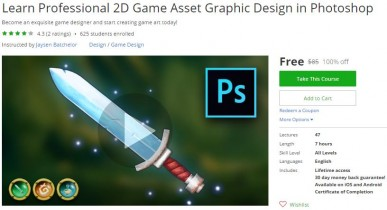 Udemy Coupon – Learn Professional 2D Game Asset Graphic Design in Photoshop