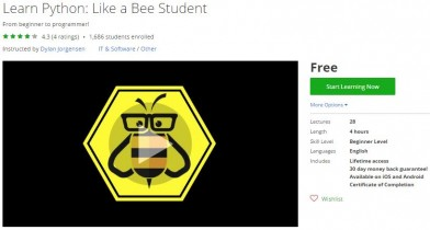 Udemy Coupon – Learn Python: Like a Bee Student