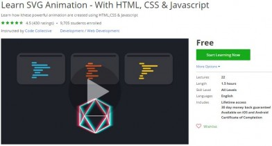 Udemy Coupon – Learn SVG Animation – With HTML, CSS & Javascript