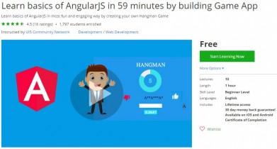Udemy Coupon – Learn basics of AngularJS in 59 minutes by building Game App