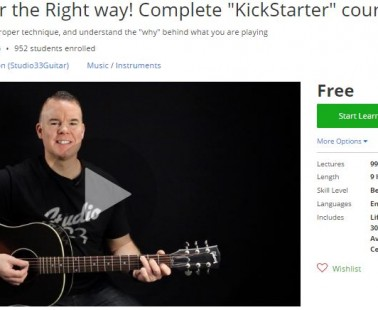 "Udemy Coupon – Learn guitar the Right way! Complete ""KickStarter"" course"