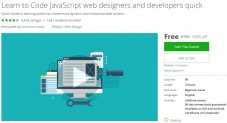 Udemy Coupon – Learn to Code JavaScript web designers and developers quick