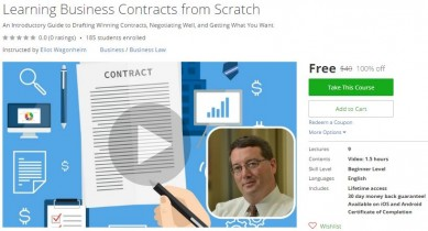 Udemy Coupon – Learning Business Contracts from Scratch