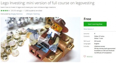 Udemy Coupon – Lego Investing: mini version of full course on legovesting