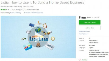 Udemy Coupon – Listia: How to Use It To Build a Home Based Business