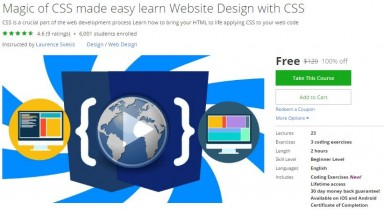 Udemy Coupon – Magic of CSS made easy learn Website Design with CSS
