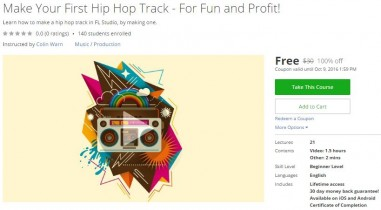 Udemy Coupon – Make Your First Hip Hop Track – For Fun and Profit!