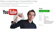 Udemy Coupon – Make a Living Gaming on Youtube (Paid to Play)