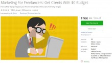 Udemy Coupon – Marketing For Freelancers: Get Clients With $0 Budget