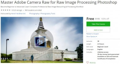 Udemy Coupon – Master Adobe Camera Raw for Raw Image Processing Photoshop