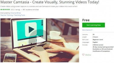Udemy Coupon – Master Camtasia – Create Visually, Stunning Videos Today!