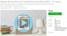 Udemy Coupon – Master Microsoft Excel, PowerPoint and Word 2016 – 21 Hours
